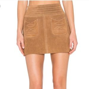 Free People Brown Suede Skirt